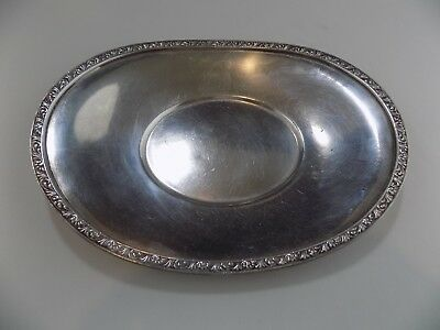 Rare antique collectible THE DRAKE HOTEL, CHICAGO silver plated oval tray