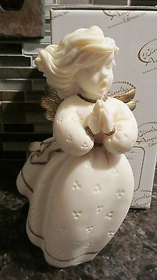 """New Windsong Angels 7"""" Angel with Praying Hands Figurine Roman 83652 Made Italy"""