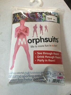 NEW HALLOWEEN Costume PINK Morphsuits Morph Suit Body XL
