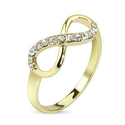 Coolbodyart Af Stainless Steel 14 Carat Gold-Plated Unisex Ring Gold Infinity