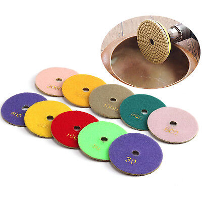 4 inch Diamond Polishing Pads Granite Marble Concrete Stone Grinding Discs