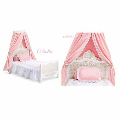 AMERICAN GIRL SAMANTHA'S BED & Bedding set pillows canopy BEFOREVER NEW