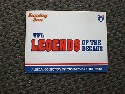 """1980's Sunday Sun VFL """"Legends of the Decade"""" Medal Collection"""