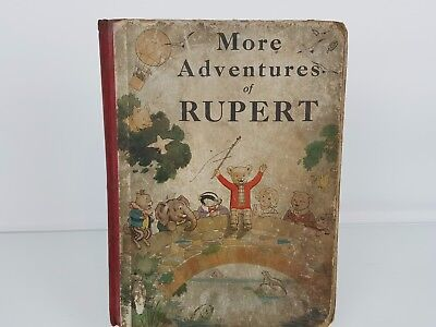 Rupert Annual 1937 Original - More Adventures Of Rupert