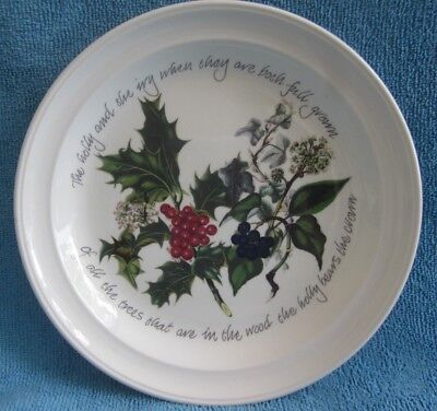PORTMEIRION The Holly & The Ivy 18.5cm SIDE PLATE A. Cooper - Willis CHRISTMAS