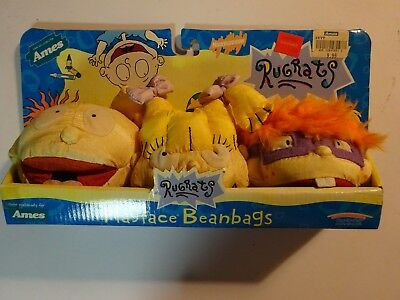 RUGRATS CHUCKY TOMMY ANGELICA PLAY BY PLAY Ames Playface Beanbags 1998 NIB