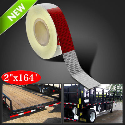 """2""""x164' Dot-C2 Reflective Conspicuity Safety Tape Trailer Tankers 6""""red White EK"""