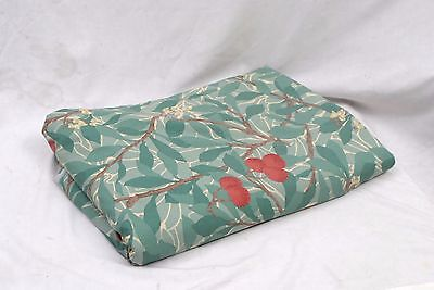 William Morris ARBUTUS Green Cotton Fabric / Material -Double Width 266cm x 8.3m