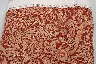 William Morris & Co. ROSE & THISTLE Cotton Fabric / Material - 142cm x 7.26m