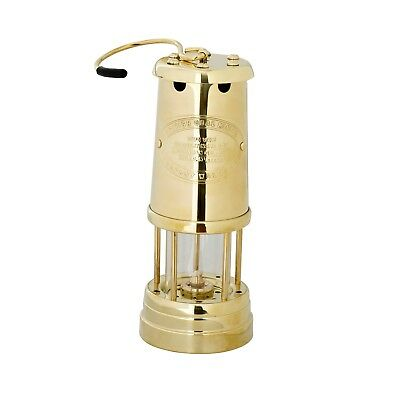 New Welsh Miners kerosene Brass oil Lamp light Made in Wales J D Burford -