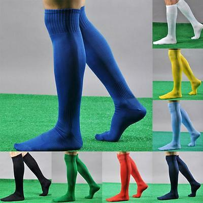 Football Plain Long Socks Sport Knee High Large Hockey Rugby Mens Womens Vy