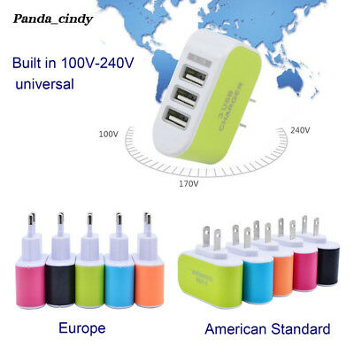 American Standard USB Charger Plug Practical Travel Phone European Standard