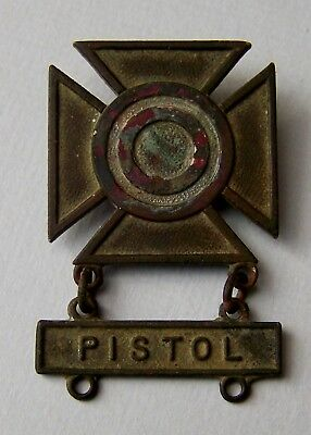 WW1 Early C clasp Meyer Brooch Prototype? US Army Sharpshooter Pistol Qual Badge
