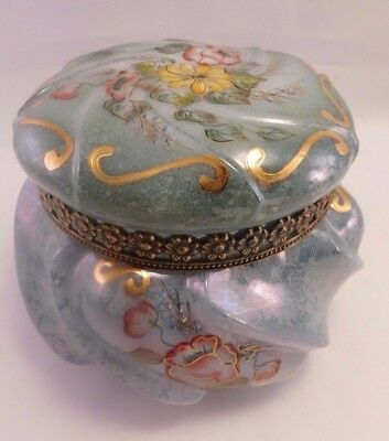 Fenton Art Glass: Connoisseur Collection Marbleized Lustre Covered Box