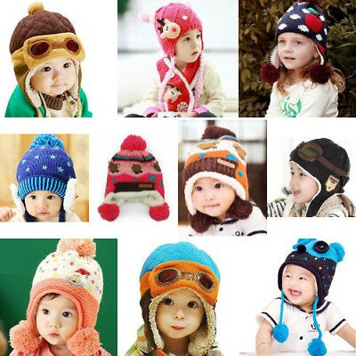 Unisex Baby Toddlers Pilot Aviator Style Winter Warm Ear-flap Hat