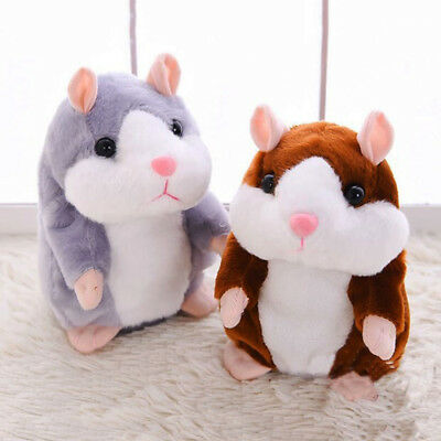 Lovely Speaking Hamster Repeats Electric Doll Children Funny Animal Toy Gift
