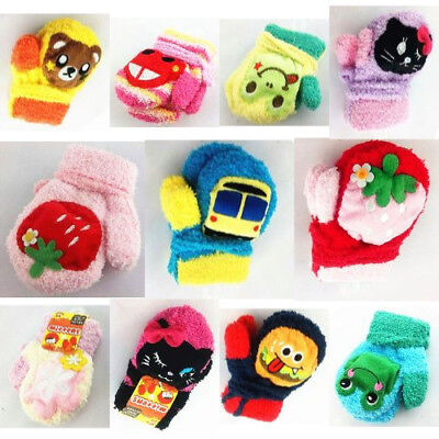Waterproof Gloves Cartoon Mittens For Warm Baby222668992582 Colorful Winter