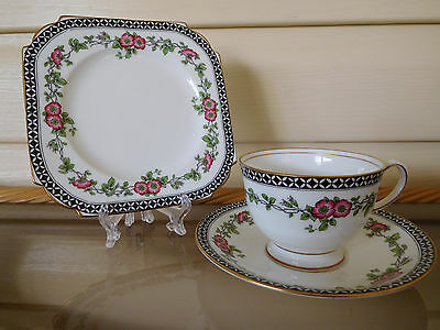 Aynsley Pink Floral Trio A4950 Made In England