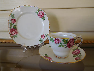 "Colclough ""Roses"" Trio Made In England"