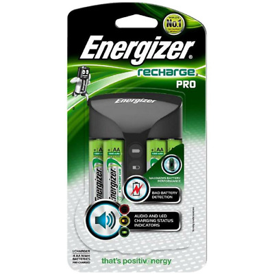 Energizer Recharge Pro Battery Charger Batteries AA Recharge Battery 4PK