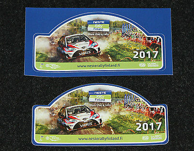 Neste Rally Finland official event stickers 2017 Toyota Yaris WRC