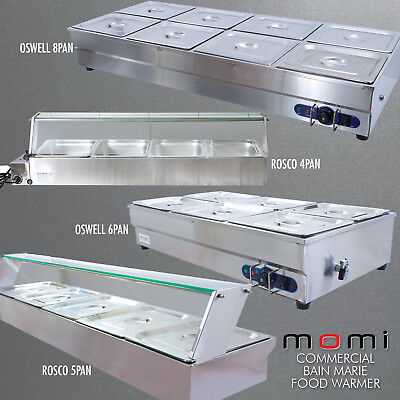 Stainless Steel Momi Commercial Bain Marie Electric Food Hot Warmer Pans GN Tray