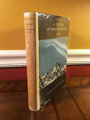 "1957 UK 1st Edition ""A CENTURY OF MOUNTAINEERING"" by Arnold Lunn Climbing"