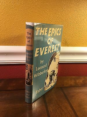 "1955 UK 1st ""THE EPICS OF EVEREST"" by Leonard Wibberley  Mountaineering Climbing"