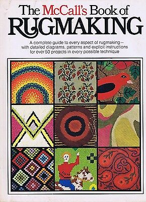 Vintage McCalls Book of Rug Making 1970s Latch Hook Hand Punch Patterns Crafts