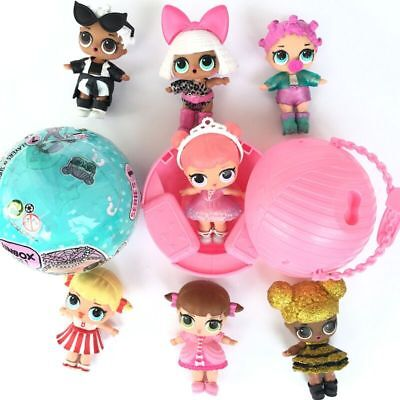 1-8PCS LOL SURPRISE DOLL 1Lil Sisters Ball 7Layers Series Surprise Toy UK STOCK