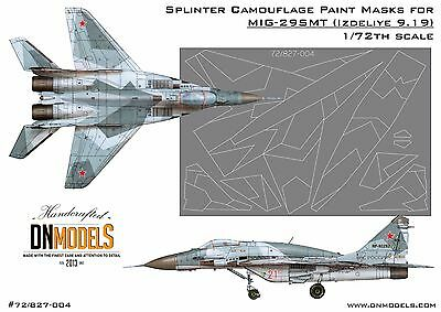 Splinter Camo Mask set for MiG-29SMT 9-19 1/72 Trumpeter #01676 FREE Shipping
