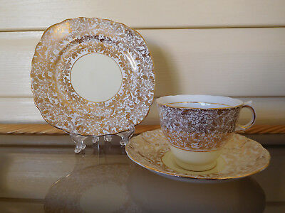 Colclough Lemon Chintz Trio Made In England
