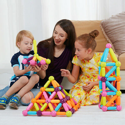 1 Set Magnetic Building Block Toys Training For Babys Kids Child Mixed Colors