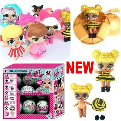 LOL SURPRISE DOLL 1Lil Sisters Ball 7Layers Series Surprise Toys Xmas GIFT UK