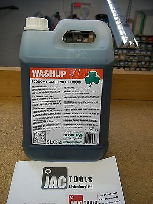 5l WASHING UP LIQUID CONCENTRATE CLOVER WASHUP DISHES GLASS PLATES CROCKERY