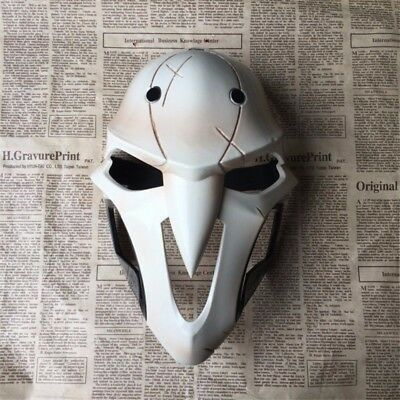 Overwatch OW Reaper Mask Cosplay Helmet Props 1:1 Size Halloween Mens Mask USA