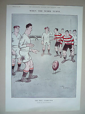 """Rugby. """" The Ball Complains """" 1928. Rare."""