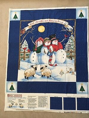 Vintage Daisy Kingdom Christmas Quilt Panel - 'Heaven And Nature Sing'