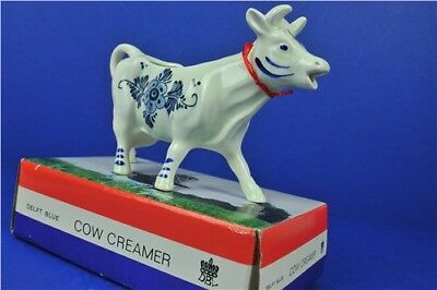 Delft Blue Blue & White Cow Creamer Jug In Box DBL Hand Painted