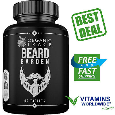VITAMIN PILLS FOR Beard and Mustache Fast Growth Ultimate Facial Hair Grower