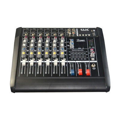 2000 Watts 6 Channel Power Compact Mixer mixing Console Amplifier Professional