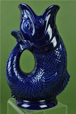 Dartmouth Wade Large Gurgling Fish Cod Pitcher Royal Blue Vase Ornament