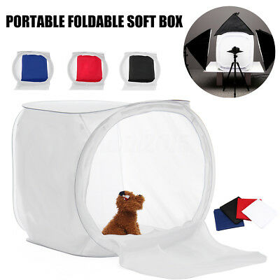 5 IN 1 80cm Photography Cube Box Light Room Tent + 4 Studio Backdrop Background