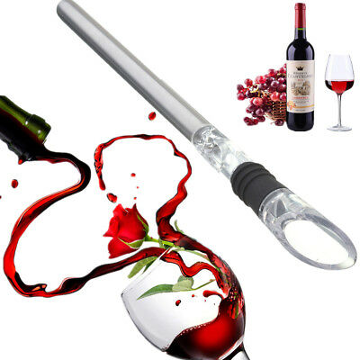 Stainless Steel Red Wine Rod Pourer Chilling Stick Pouring Spout Aerator 31.3cm