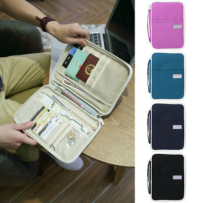 Travel Wallet Purse Bag Organizer Zipper Passport Tickets ID Holder Handbag