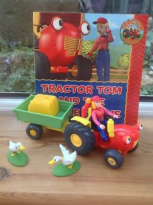 Tractor Tom Springhill Farm Tractor Tom With Trailer Farmer Fi Geese & Book