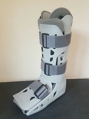 Aircast Boot Airselect Cast Broken Bone Leg Ankle Foot Support DJO,LLC Med left