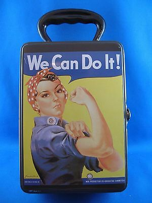 "Collectible Rosie the Riveter Tin Lunch Box ""We Can Do It"""