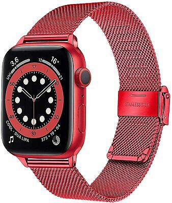 42mm 44mm iWatch Milanese Stainless Steel Strap Band Apple Watch Series 5 4 3 2