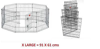 Big Panel Wire Metal Pet Dog Animal Cat Playpen Fence Enclosure Cage 91cm x 61cm